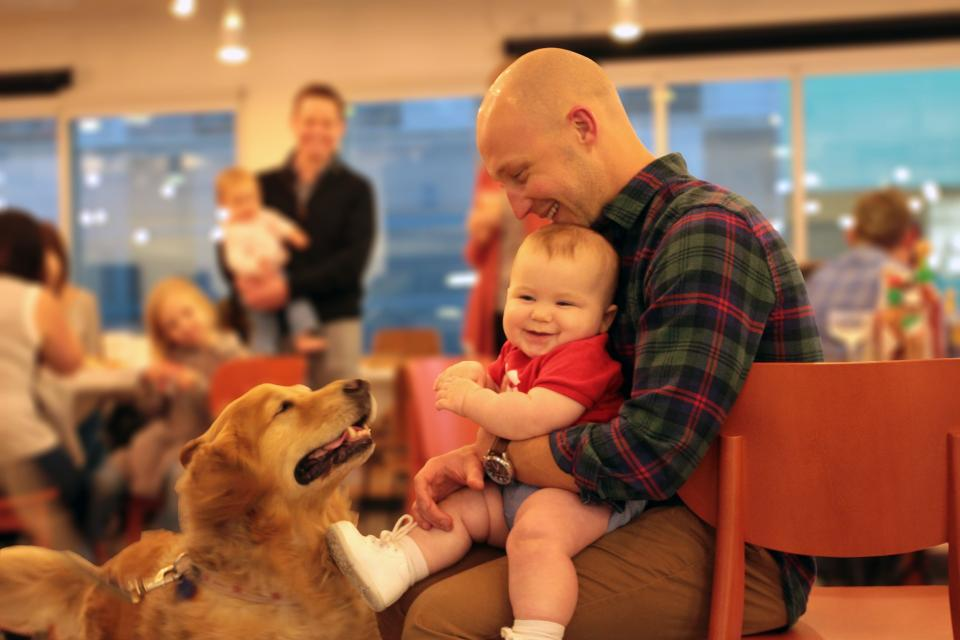 Family night at Dropbox even includes our four legged friends