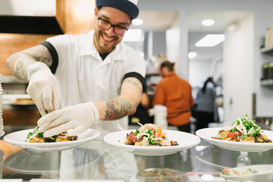 Dropbox's Tuck Shop cafeteria serves up 3 gourmet meals a day 5 days a week