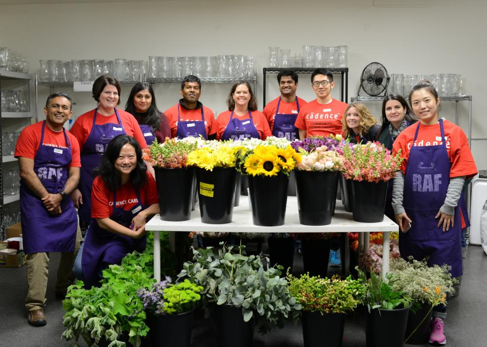 Volunteer event with Random Acts of Flowers