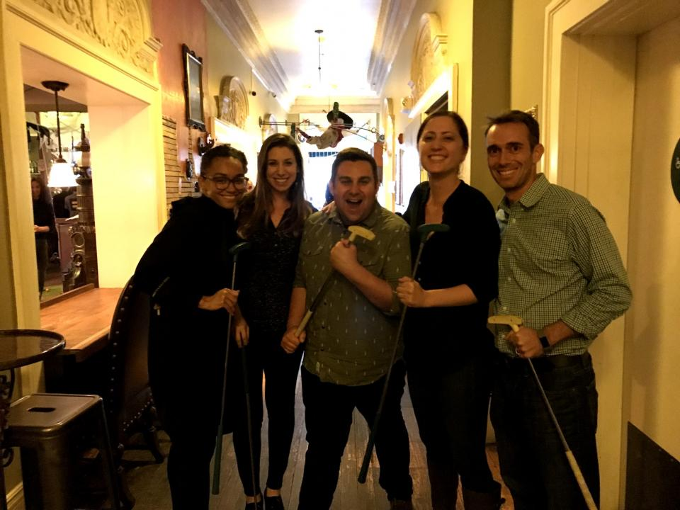 A product team outing to Urban Putt