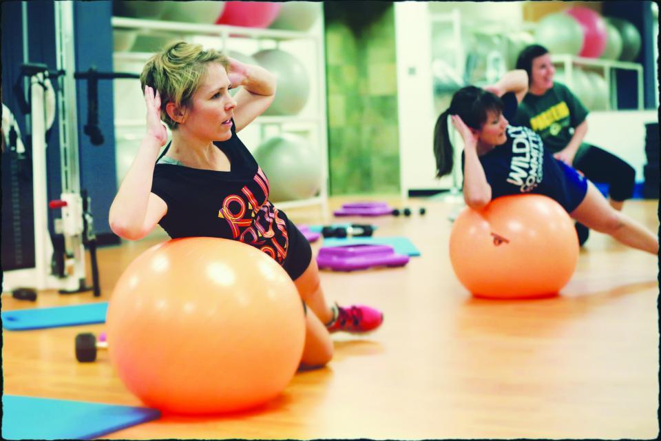 Associates take advantage of an on-site fitness class.