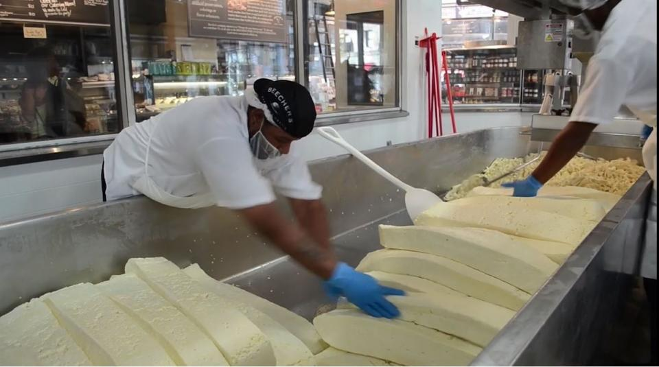 We make cheese at Seattle's historic Pike Place Market and in New York's Flatiron District.
