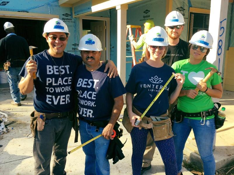 Our Fort Worth Region spent Venterra Cares volunteer hours teaming up with Habitat for Humanity to help make a difference in the lives of a few local residents!