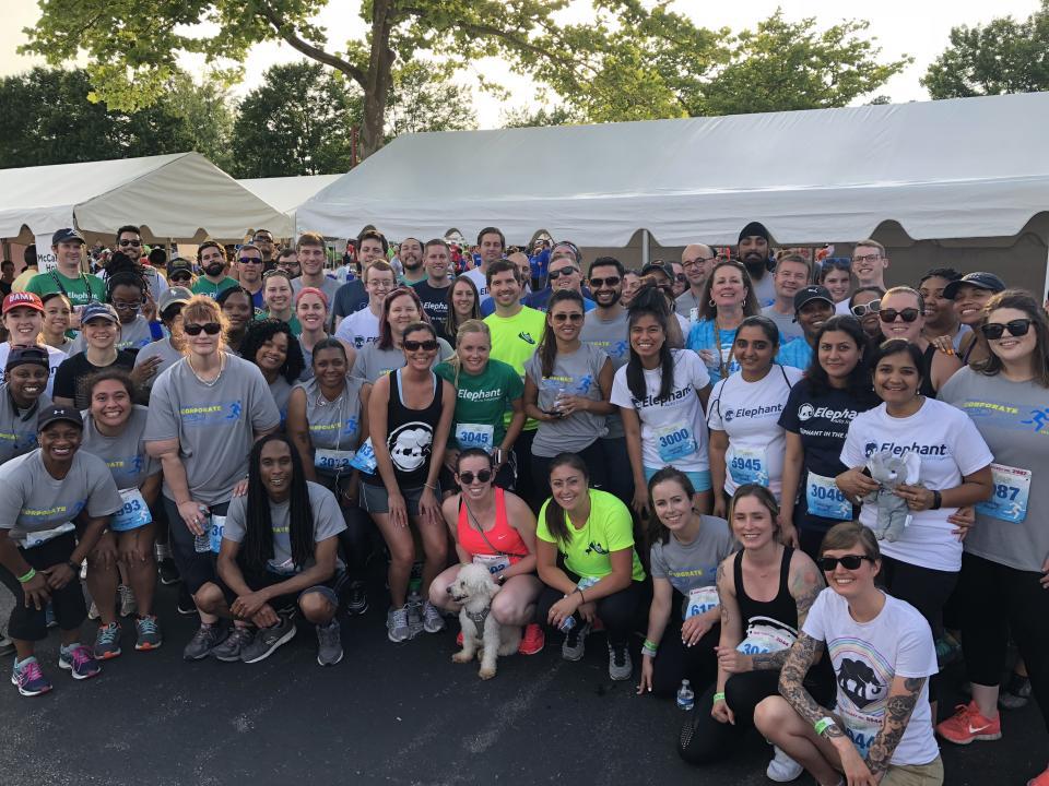 Elephant team at the 2018 Corporate Run