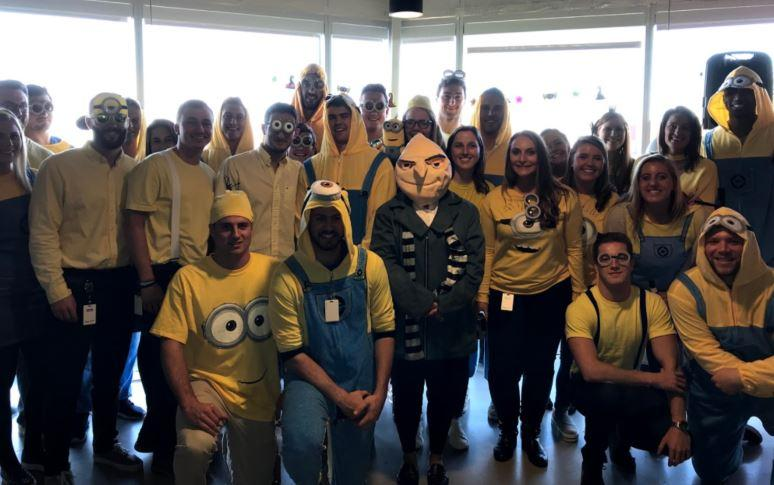 Some of our sales team during our Halloween costume contest.