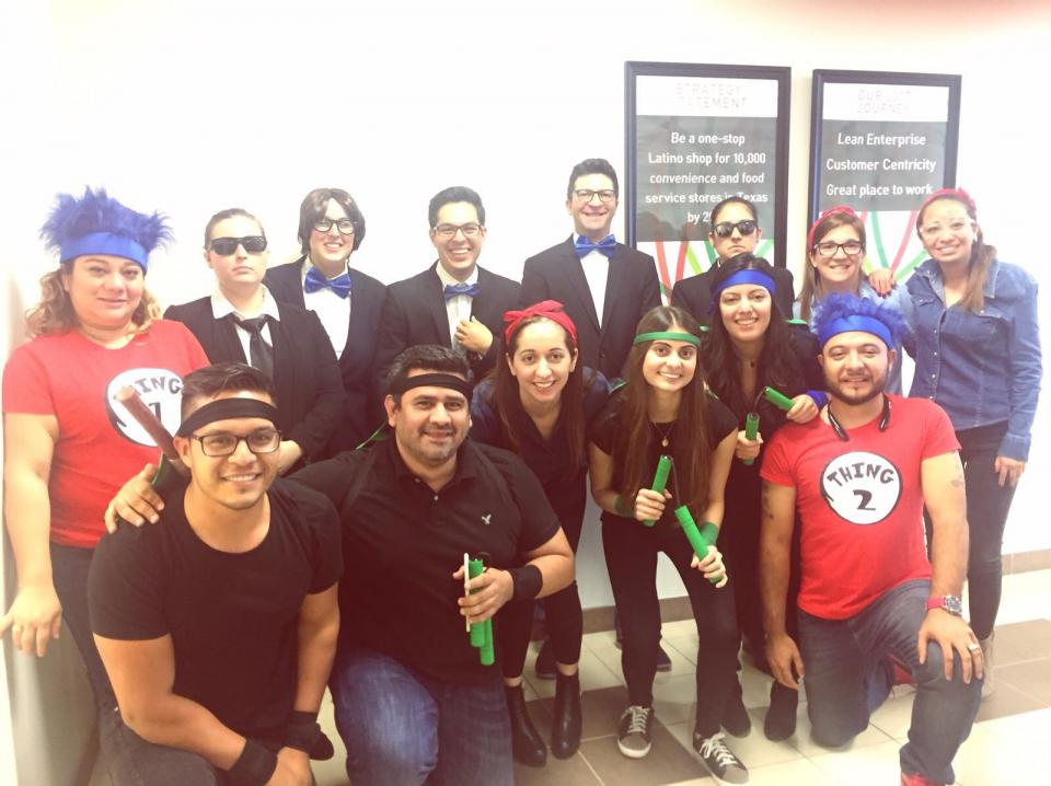 Associates from different departments came up with funny customes during our HallowIMM festivities.