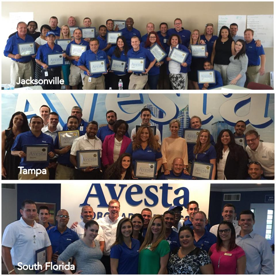 Avesta teammates after completing the Avesta Experience workshop