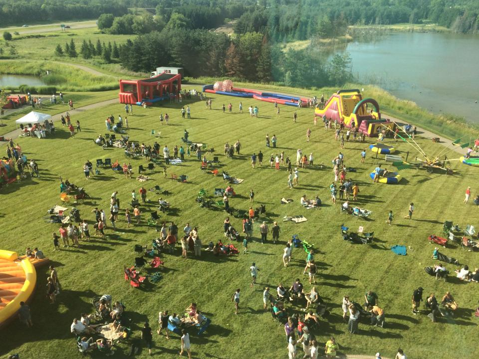 Aerial shot at Employee Picnic