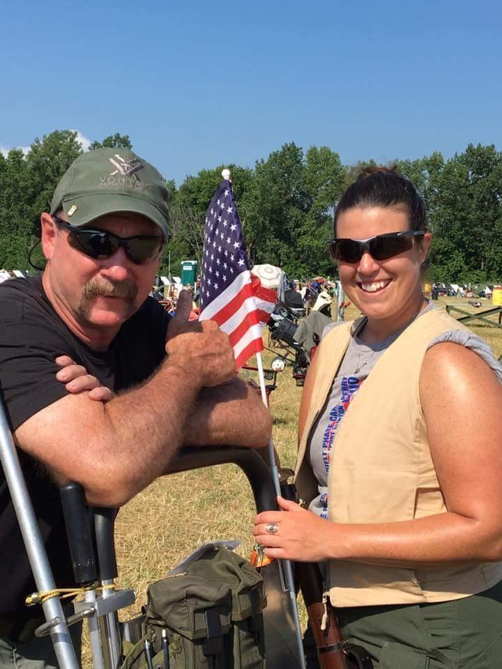 Lindsay at marksmanship event