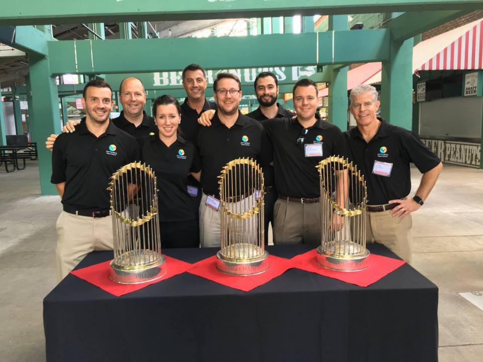 We learned a lot about the future of energy efficiency at ENGIE's Energy Revolution event on Friday from thought leaders representing Boston Properties, Ahold USA, and Eversource Energy - plus, we got to meet Jim Rice AND pose with the Boston Red Sox's World Series trop