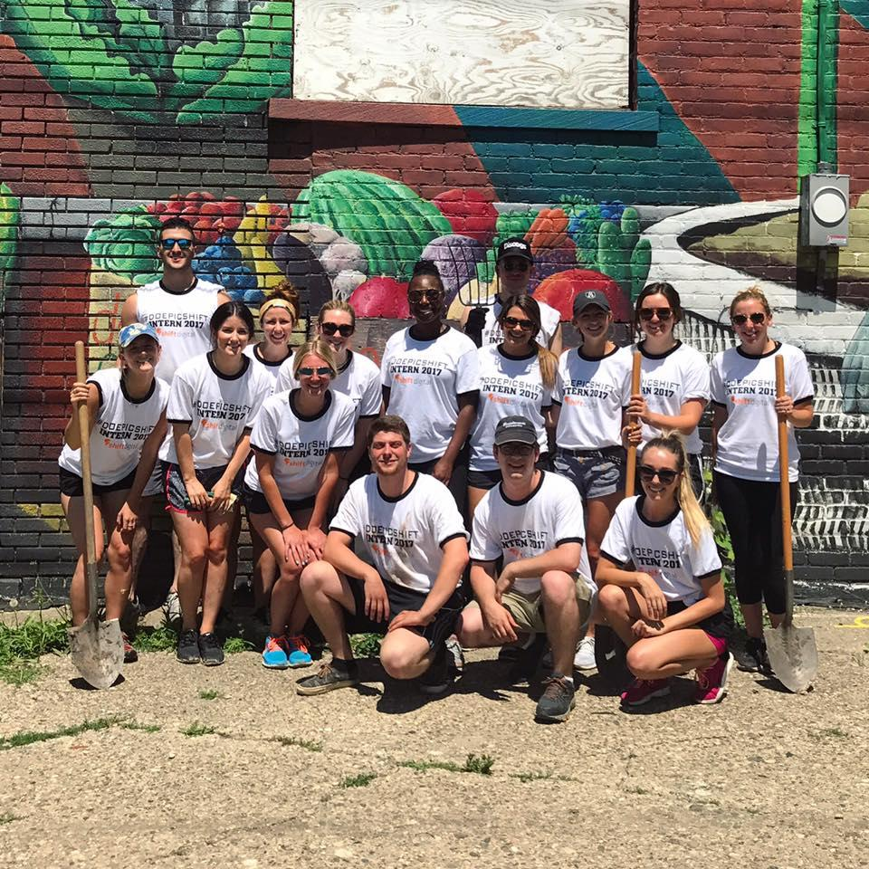 Summer interns giving back to the community
