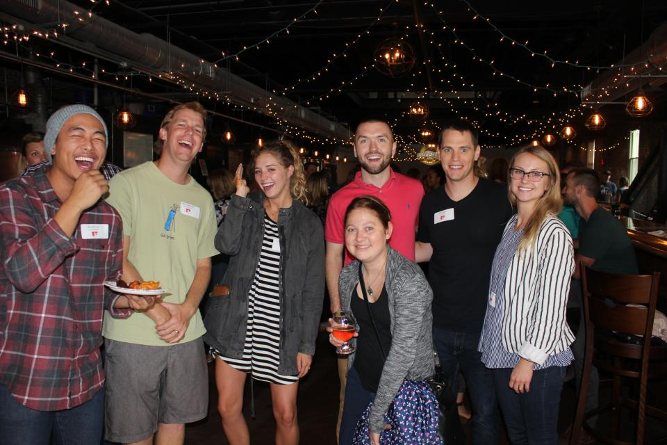 A few of our team members having fun at one of our monthly team socials following the Home Office Team Meeting.