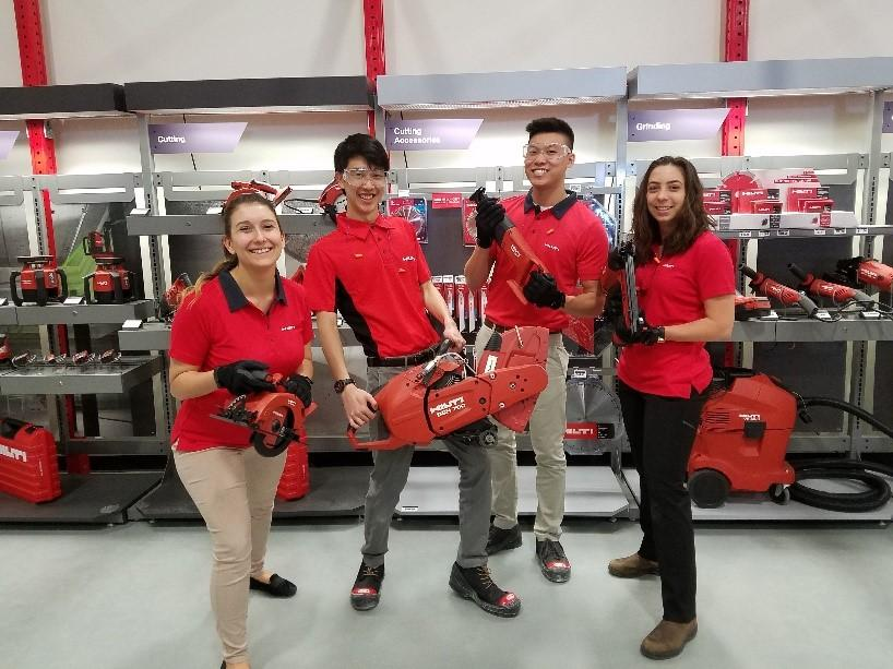 Hilti North America summer interns learn about our tools and services in the training center during their first week at Hilti. Each summer, we employ interns around the United States to do meaningful work across various departmets.