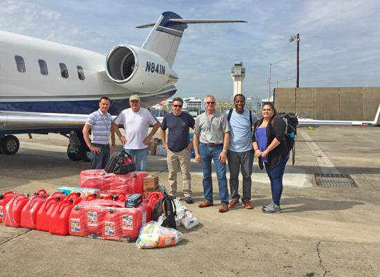 Delivering employee donations to Puerto Rico