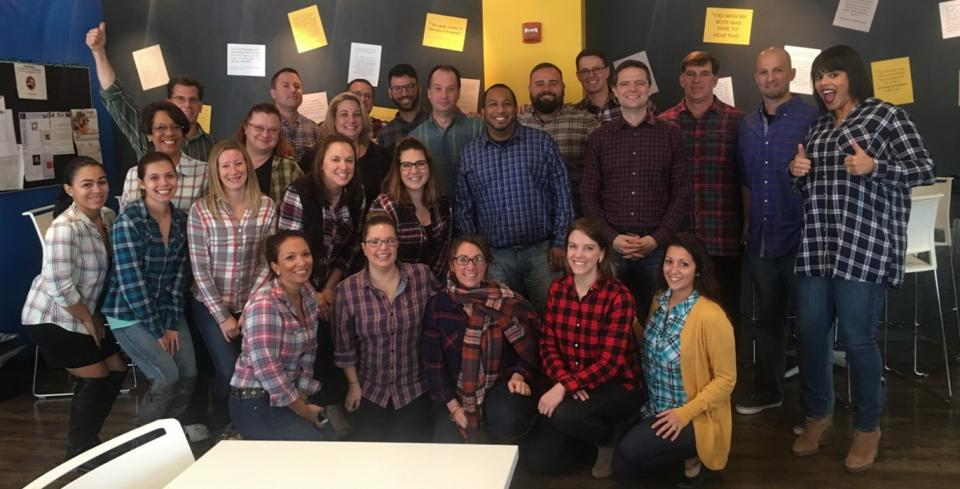 One of our fabulous employees has taken the initiative to put together Fashion Fridays, where each week is a new theme – featured above is plaid Friday. Everyone gets involved in the fun, even our CEO and leadership team!