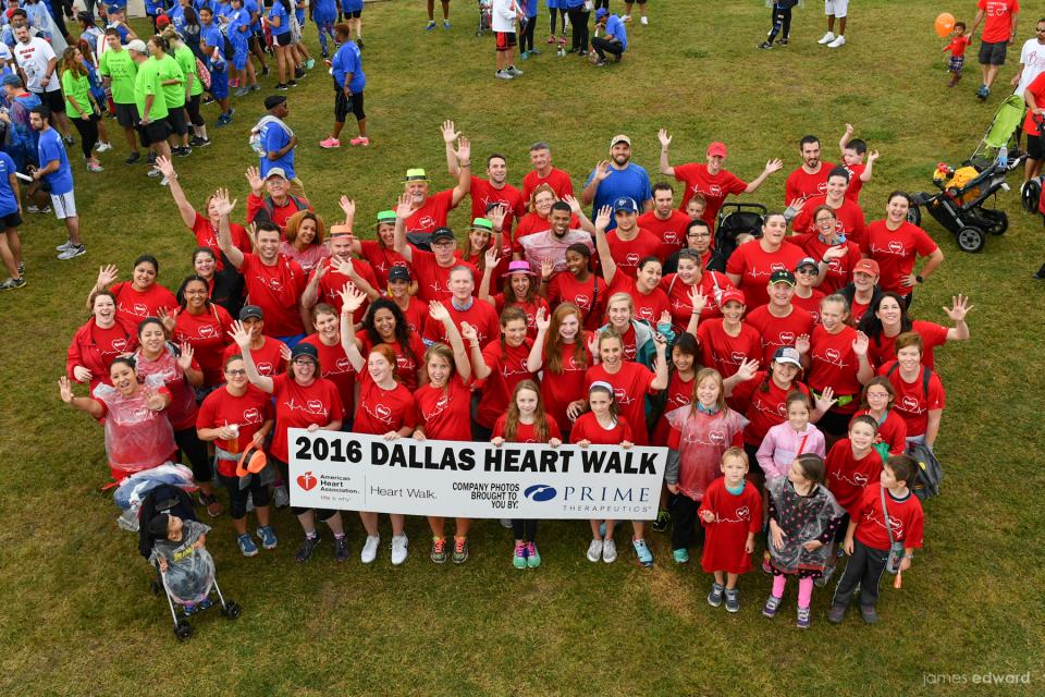 Dallas Employees at the American Heart Association Heart Walk