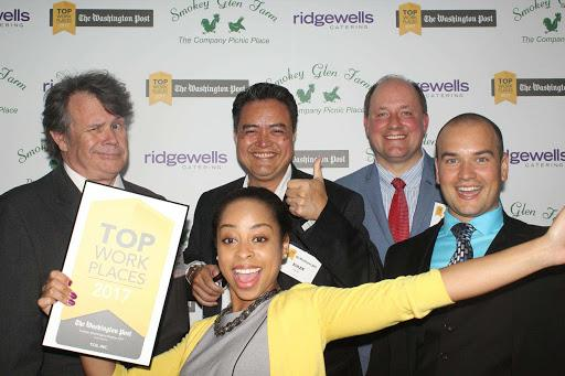 TCGers celebrate their third time ranking on the Washington Post's Top Workplace list.