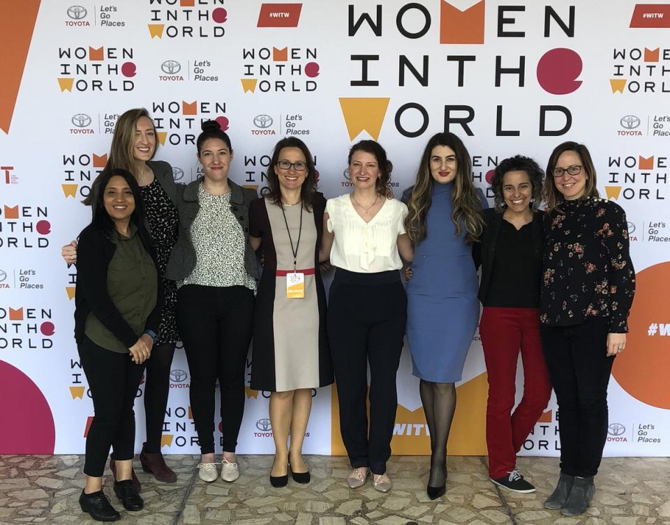Our Women at Oliver Wyman delegation attending this year's Women in the World Summit. The summit presents powerful new female role models whose personal stories illuminate the most pressing international issues.