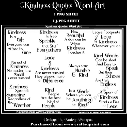 Kindness quotes word art