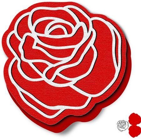 rose shape card template cup700705 671 craftsuprint