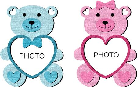 Teddy Bear Photo Frames - CUP700707_671 | Craftsuprint