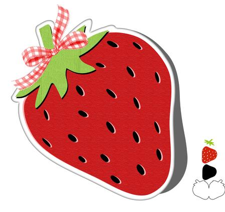 Strawberry Card Shape Template - CUP700708_671 | Craftsuprint