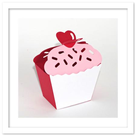 3D Cupcake Heart On Top Favor Box Template - CUP701068_671 ...