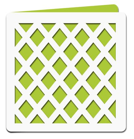 Lattice Square Card Template - File - CUP701329_671 | Craftsuprint
