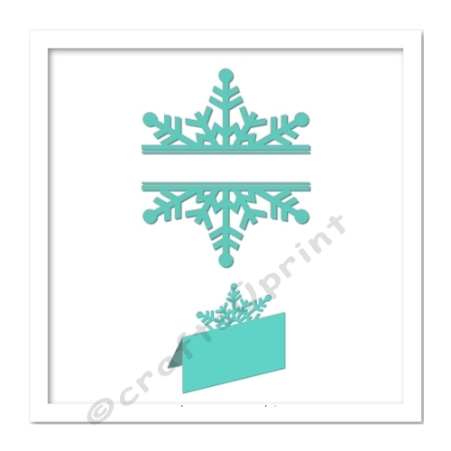 snowflake split with snowflake place card multi cutting. Black Bedroom Furniture Sets. Home Design Ideas