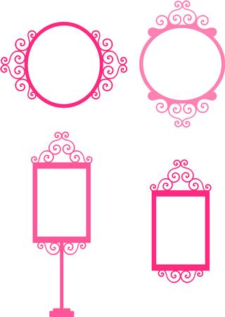 Pink Princess Frames - Png Format - CUP86336_671 | Craftsuprint