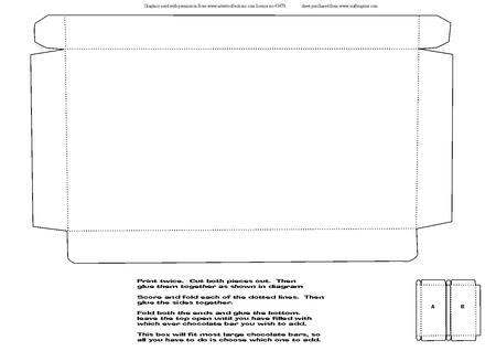 Large Chocolate Bar Box Template - CUP310428_1509 | Craftsuprint