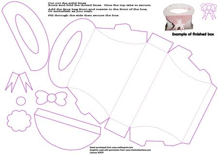 handbag shaped box template cup320260 1509 craftsuprint