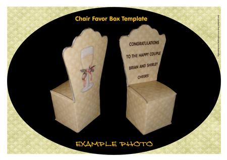 Chair Favor Box Template - CUP334759_1509 | Craftsuprint