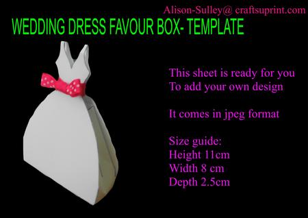 Favor box template bridal party tees.