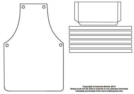 Apron template cup43642 56 craftsuprint for Chef template resource