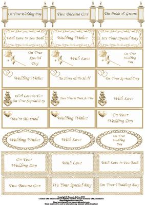 wedding captions in gold cup51643 56 craftsuprint