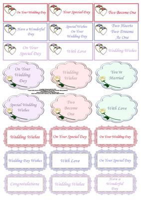 wedding captions in colour cup51647 56 craftsuprint