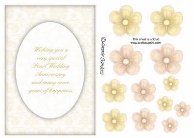 Gorgeous Pearl Wedding Anniversary Card Kit