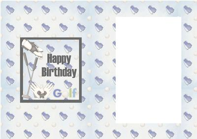 Happy Birthday Golf Male Card Insert