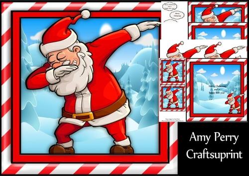 Santa Doing The Dab 8x8 Mini Kit