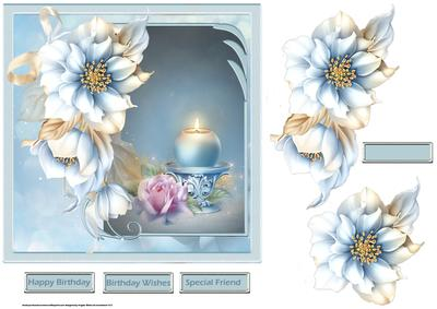 Candles and the Rose 7x7 Card with Decoupage - CUP665566_8 ...