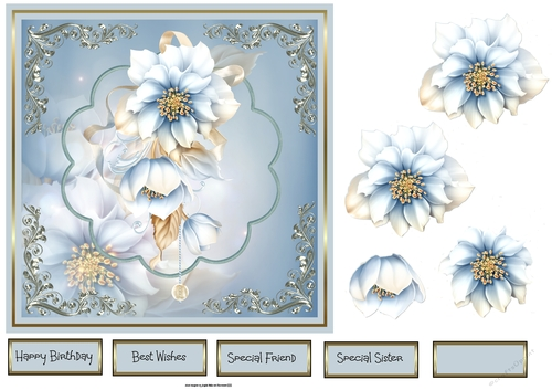 White Elegance Scallop Edge - CUP184919_613 | Craftsuprint
