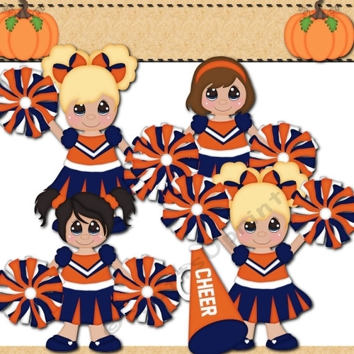 Cheerleader clipart orange and blue cup734560 1141 for Cheerleading arts and crafts