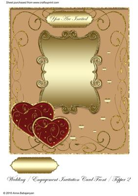 Wedding Engagement Invitation Card Front Topper 2