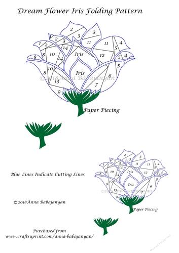 Dream Flower Iris Folding Pattern