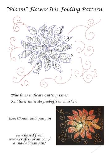 Beautiful Swirly Flower Digital Stamps by Anna Babajanyan