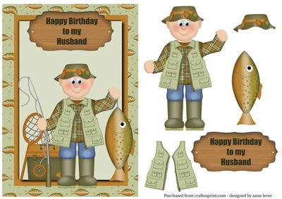 Fishing happy birthday to my husband cup3568851763 craftsuprint bookmarktalkfo Gallery