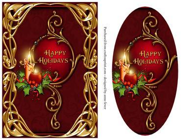 Art Nouveau Christmas - Happy Holidays - CUP364529_1763 | Craftsuprint