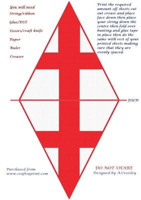 St George S Day Bunting Cup202145 822 Craftsuprint