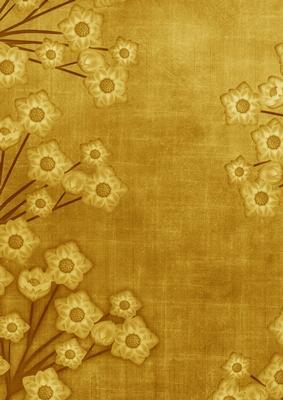 Floral Border Vintage Gold A4 Backing Paper Cup238302 10